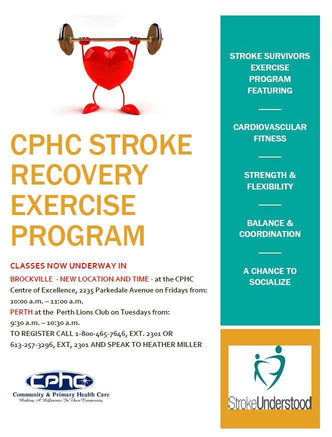 CPHC Stroke Recovery Exercise Program - Brockville